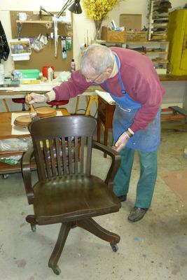 Morris Frank Chair Restored by SAGE's Furniture Workshop
