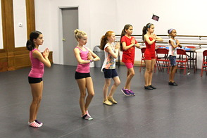 Students at Class Act Performing Arts Studio