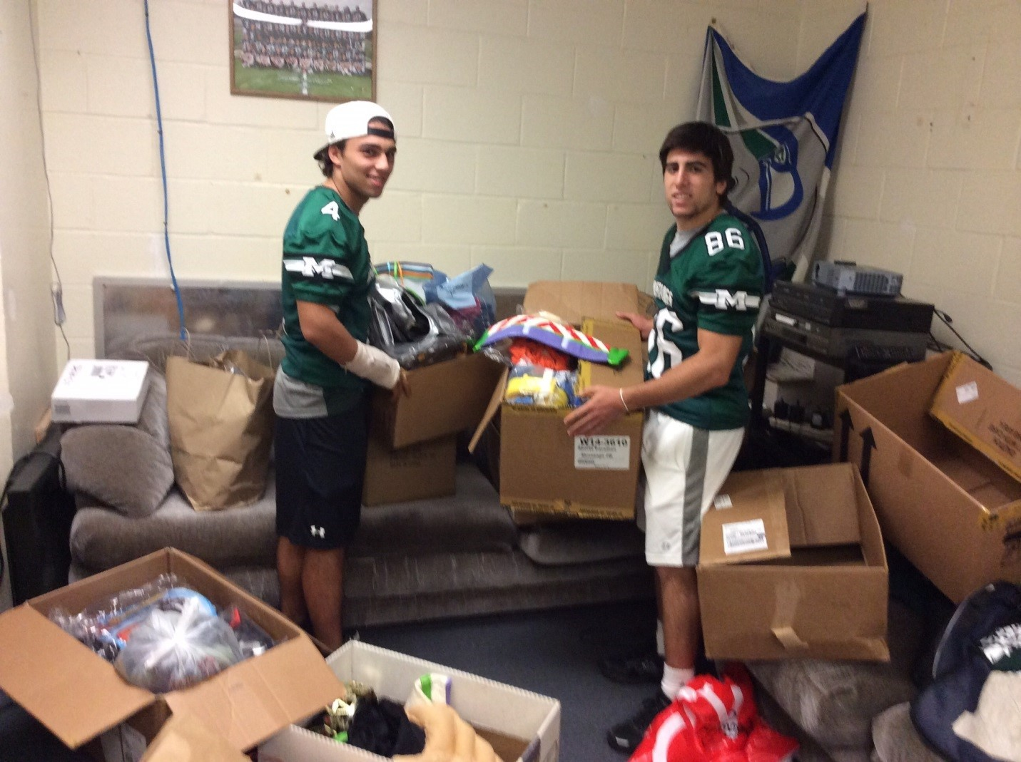 7c9a4abcbebdbe24283b_Football_costume_drive_10.2014.jpg. Montville Township High School held a Halloween costume ...  sc 1 st  TAPinto & Montville Football Collects Costumes for Family Promise - Montville ...