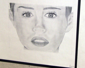 Miley Cyrus portrait