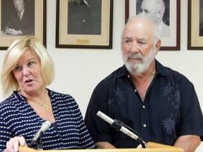 Mayor Colleen Mahr and Greg Cummings