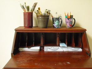 Painting Desk Inside