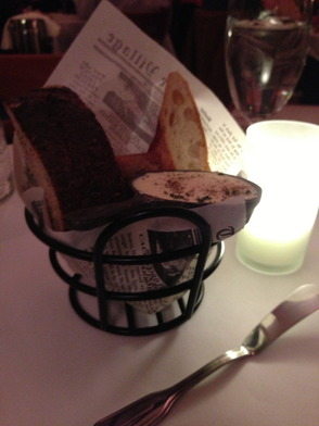 Bread service at Fricassee
