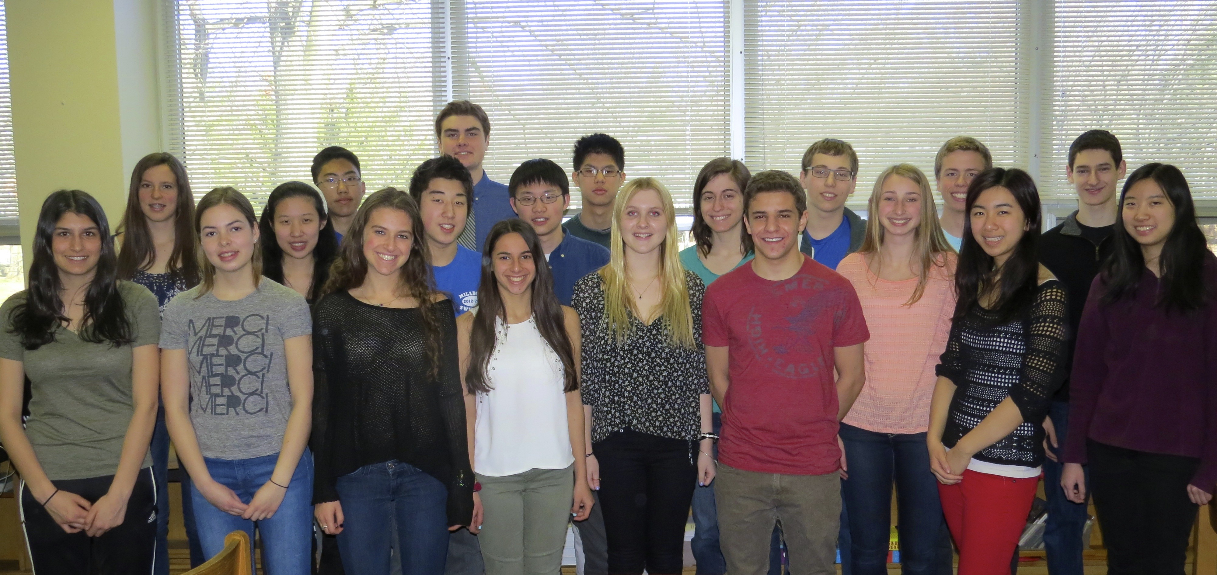 twenty two millburn high school juniors receive 2014 college book content options