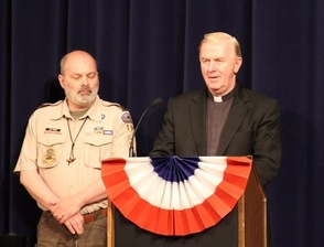 Troop Master Joe Fucito and Father David McDonnell