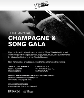 'Champagne & Song' Gala on Dec. 3 to Benefit SAGE Eldercare Will Feature Concert by Vonda Shepard, photo 2