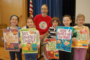 Author Dan Gutman and Hillside Students