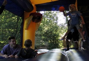Bounce House bouncing
