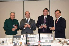 (left to right) Nicholas A. Boccella, Board of Trustees Chairman, Children's Specialized Hospital Foundation; Philip Salerno III, President and Chief Development Officer, Children's Specialized Hospital Foundation; Philip C. Chronakis, Partner, Budd Larner, PC; and Sen. Thomas H. Kean, Jr., 21st Legislative District which includes Mountainside