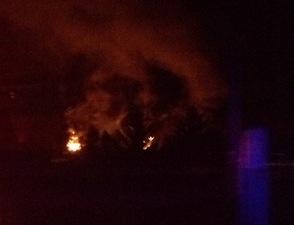Fire in Oak Ridge Auto Junk Yard, photo 1