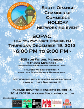 South Orange Chamber of Commerce to Host Holiday Networking Event 12/19, photo 1