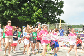 Girls on the Run marched in the parade.