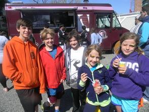 Children at the street fair