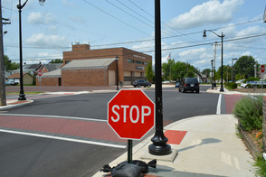 Temporary Stop Signs Along Wood-Vine Street Connector to Be Removed Monday, photo 1
