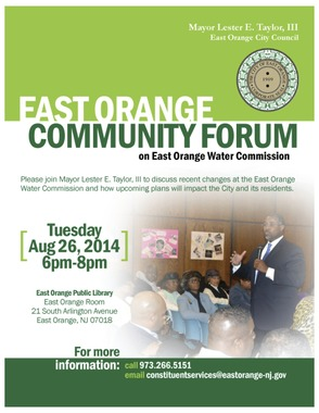 East Orange Mayor Taylor Holds Community Forum to Discuss Embattled Water Department, photo 1