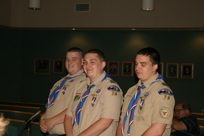 Eagle Scouts Nick, Greg and Adam Schmitt