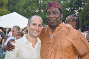Dario Boente and Victor Jones at Montclair Jazz Festival