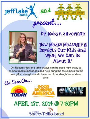 Dr. Robyn Silverman to Speak About Battling Media Messages Faced by Kids, photo 2