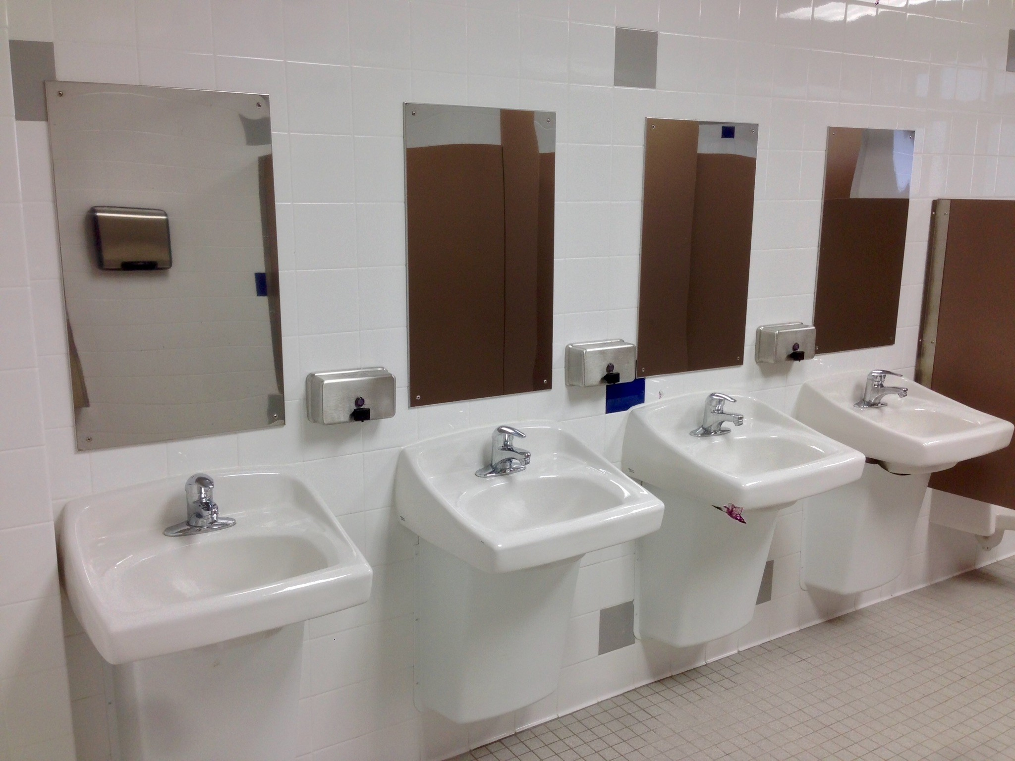 School Bathrooms downstairs bathrooms at alj h.s. get improvements - news - tapinto