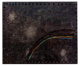 """Joggie – Black Rainbow"", Jason Stopa, oil and mixed media on canvas, 2013"