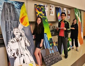 Warren Township Library Unveils Teen Space Mural, photo 1