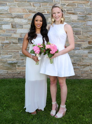 Chatham residents (pictured l-r) Ashley Gapusan and Claire Crispo