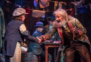 From left to right: Tyler Moran (Oliver) and David Garrison (Fagin).