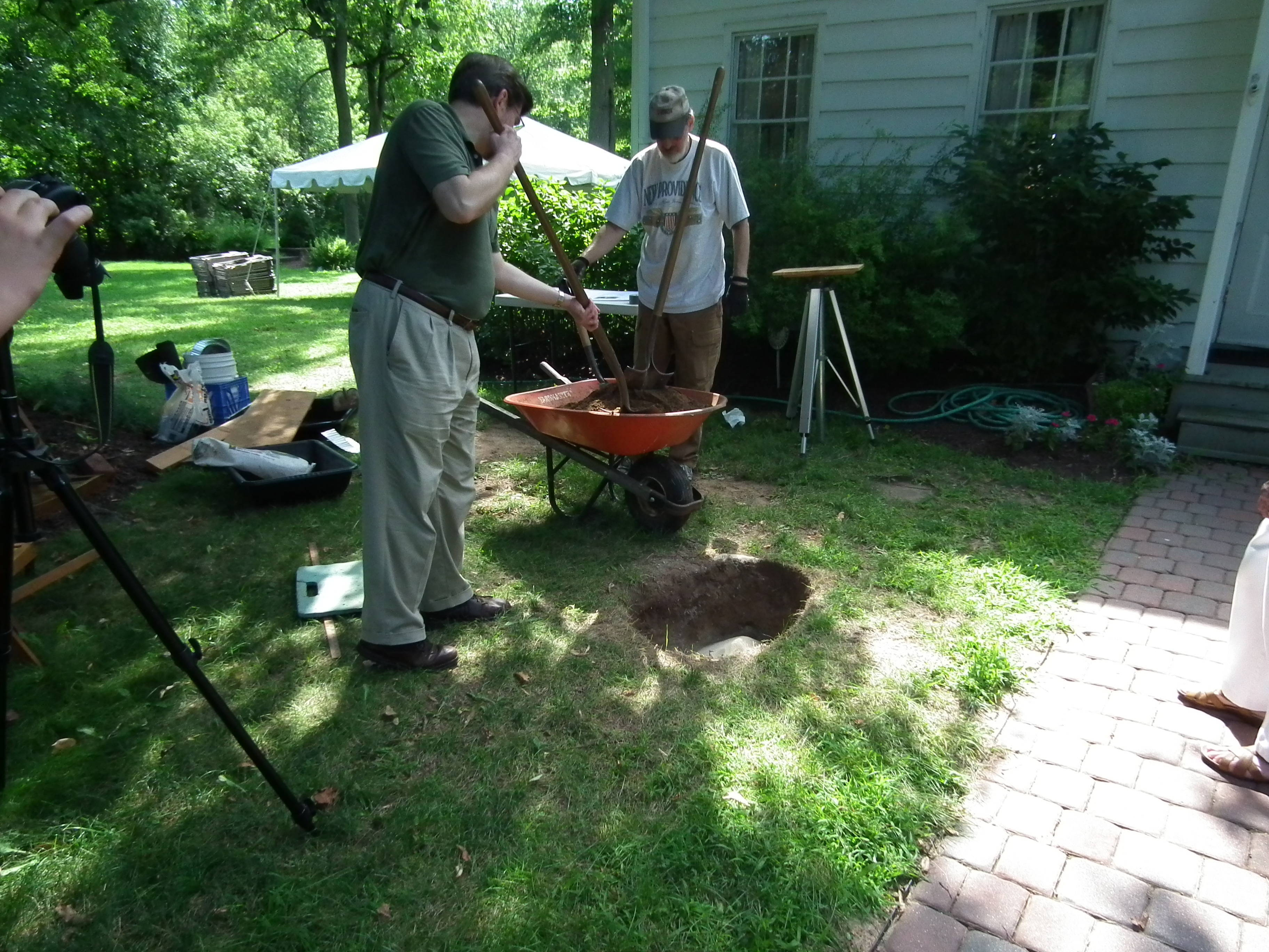 ice cream social and time capsule burial mark new providence