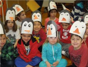 Harrison Elementary School Students Learn About Penguins