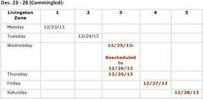 Dec. 23 - 28 (Commingled)