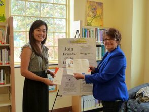 Eve Level Learning Center Director Laura Lee (left) with Friends volunteer Joanne Caronia