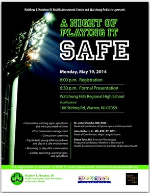 A Night Of Playing It Safe: Concussion Awareness Presented At Watchung Hills, photo 1