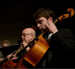 Cellists Lester Barsky and Eric Jacobson of NJIO