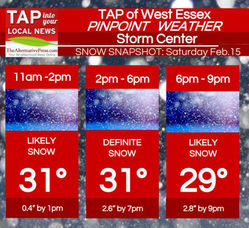 "2.8"" Snow Saturday; West Essex Area Weather for Feb. 15, photo 1"