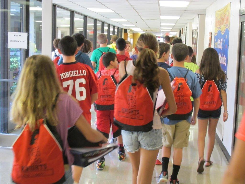first day at west essex a photo essay news  students at west essex middle school are using new cinch sacks to carry their books and supplies between classes students used to carry their backpacks