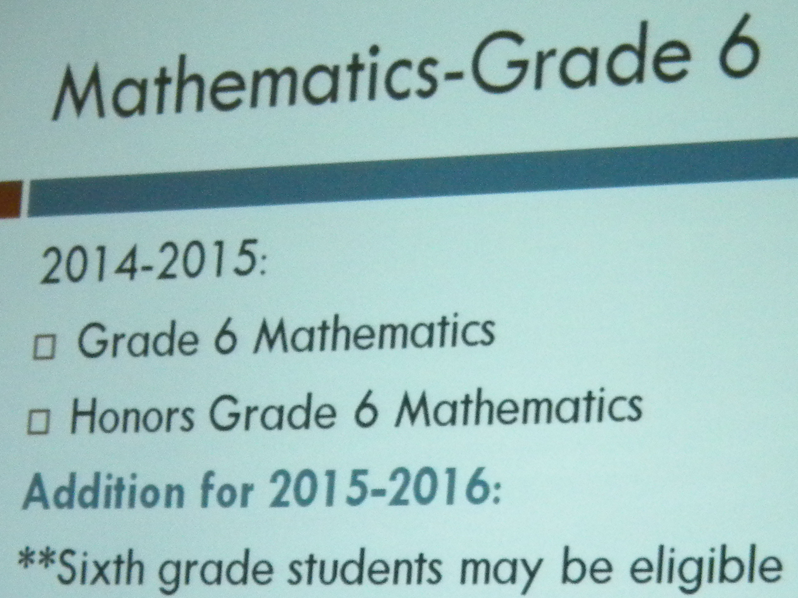 Accelerated Math for Sixth Graders is Coming to Chatham Middle ...
