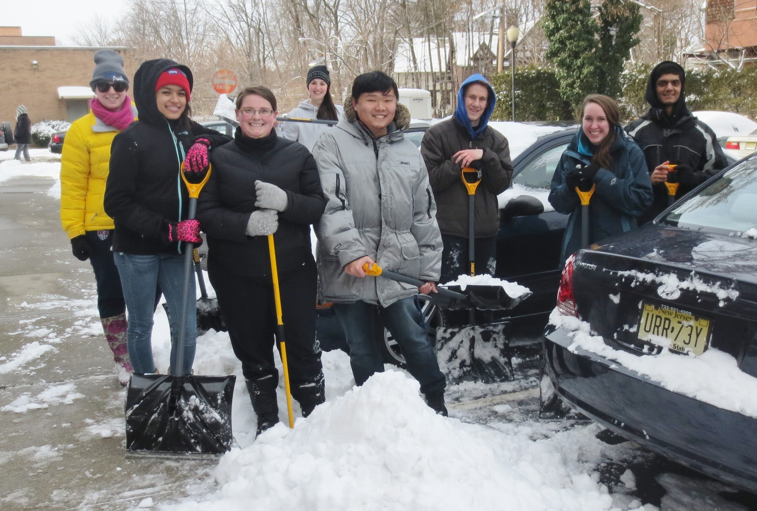 Seton Hall Students Help Seniors Weather the Winter at Two JCHC Communities