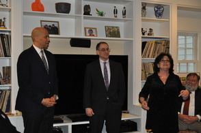 Janice Siegal, Cory Booker and Dave Haas
