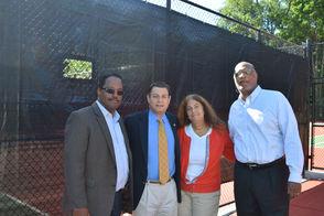 Township Manager Dashield, Councilor Hurlock, Councilor Schlager, Mayor Jackson