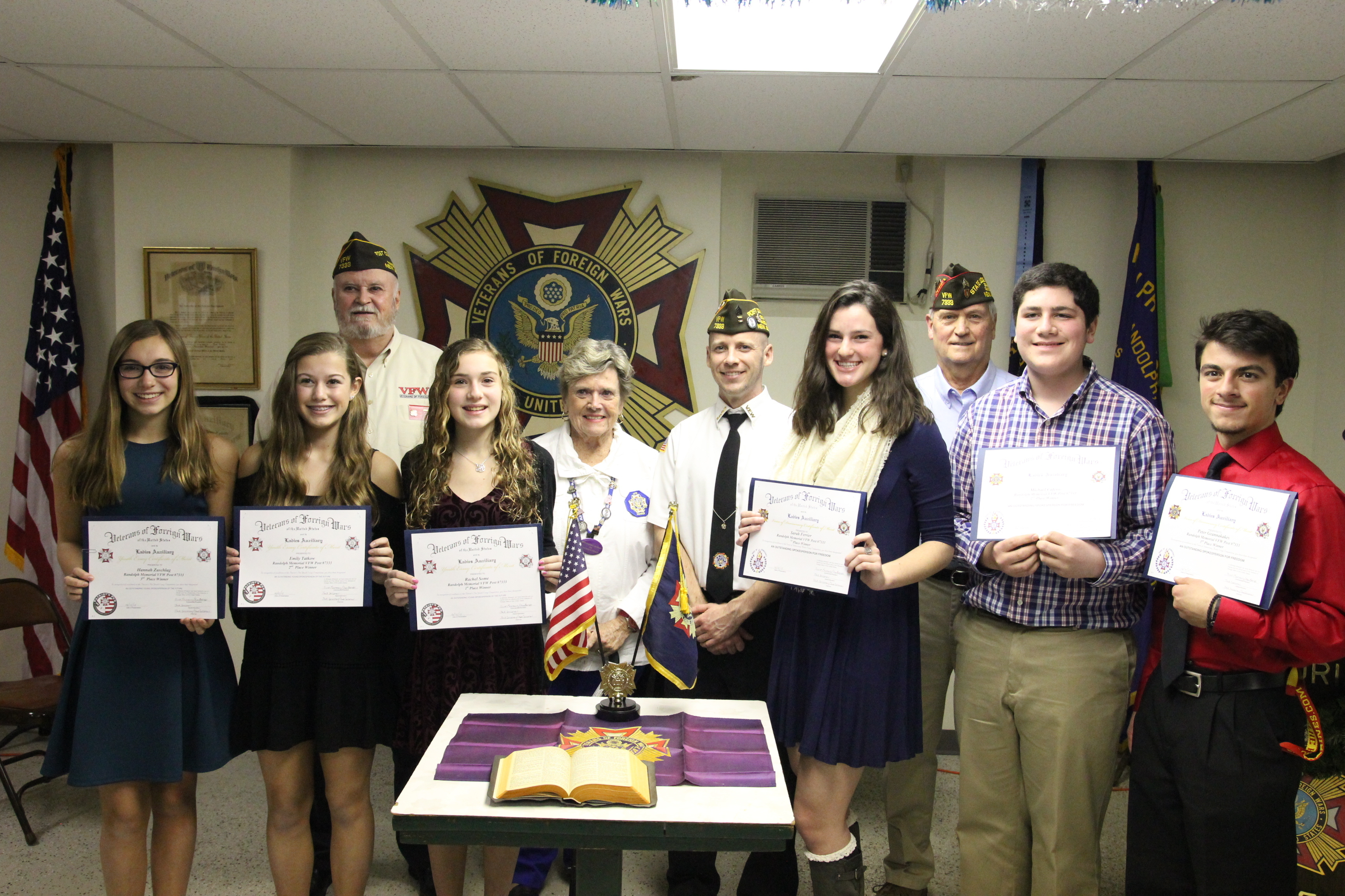 Six Randolph Students Earn Scholarships From VFW For Patriotic Best Ccebaffc IMG  Six Randolph Students Earn Scholarships From Vfw