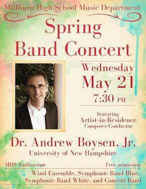 Millburn High School Band Concert Wednesday May 21, photo 1