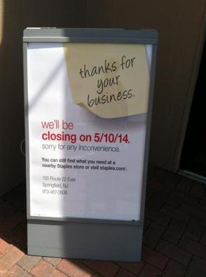 Staples in Westfield to Close May 10, photo 1