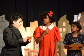 Daddy Warbucks, Annie and Grace Farrell