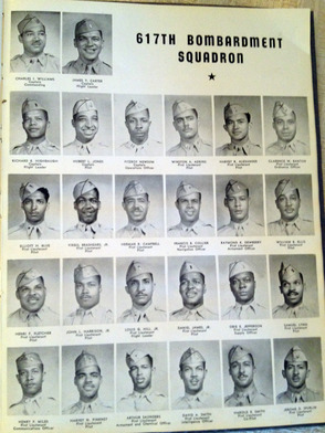 Pictures from a Tuskegee Airmen yearbook