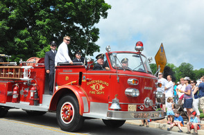 An Ogdensburg Fire Truck was part of the parade.