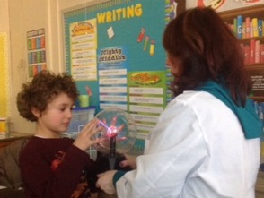 "Third Grade Experiences Electrifying ""Edison Workshop"" , photo 1"