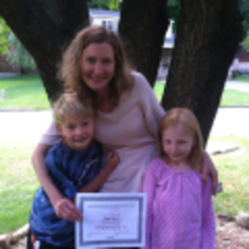 Happy Graduate and Her Children