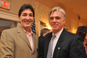 Joel Lazar of Farmers Insurance, with Robert B. Nicholson, III.