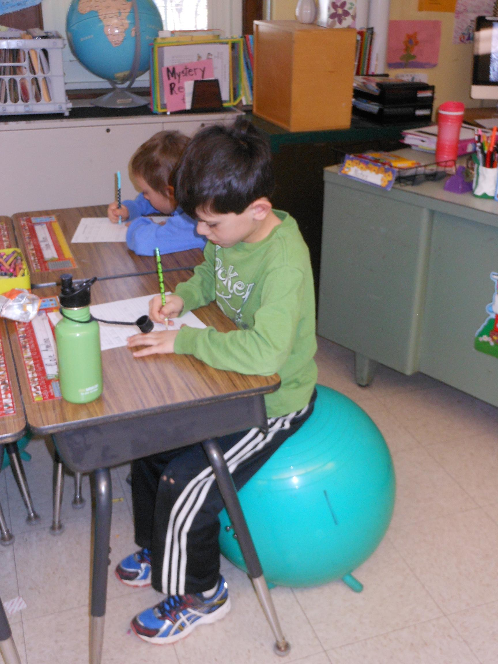 """Stability Balls """"Bounce"""" Into the Classroom"""