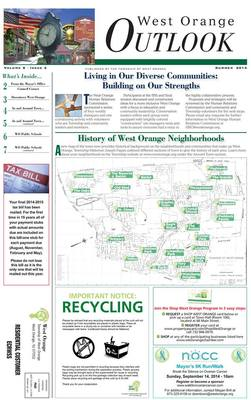 West Orange Township Releases Latest Online Edition of The Outlook, photo 1
